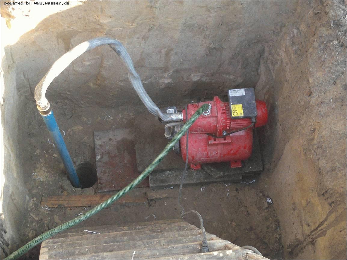 Neuen Brunnen Gebohrt Testlauf Mit Oder Ohne Ruckschlagventi